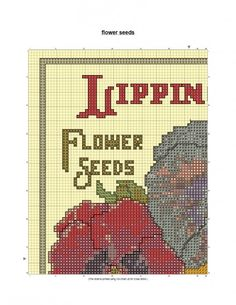 Free Cross Stitch Pattern Flower Seeds
