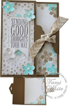VIDEO: Cool Scallop Tag Topper Fold Technique featuring  Perfect Pennants and Petite Petals stamp and punch #stampinup