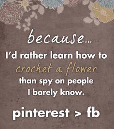 Ha! Pinterest versus Facebook
