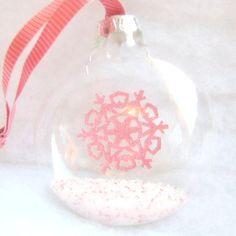 Squashed Snow Globe Glass Christmas Tree by NewEnglandQuilter, $8.00
