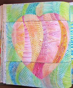 color, line, & visual texture #journal