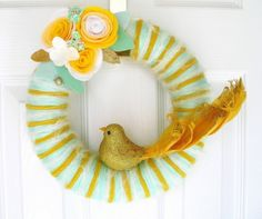 summer wreath ideas | ... pretty wreath, isn't it? I'm going to make my summer wreath like hers