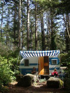 '57 cardinal camping at the coast