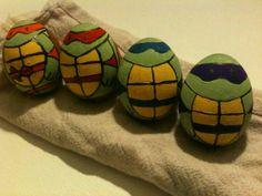 amber, ninjaturtl easter, egg rolls, easter eggs, decorations, ninja turtles, dyes, kid, easter ideas