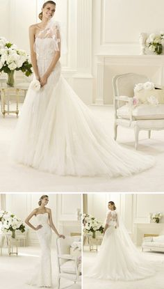 10 Incredibly Gorgeous Transforming Wedding Dresses from 2013 Bridal Collections | OneWed