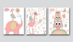 Kids wall art Owsl Nursery Giraffe Nursery art print kids wall art baby room decor