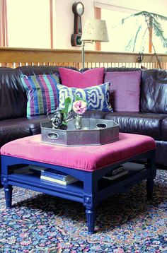 Design Manifest: Before and After- Ottoman Makeover for Mom