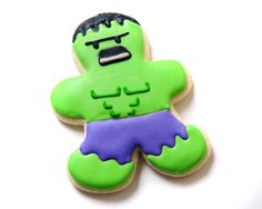 The Hulk Superhero Sugar Cookies by guiltyconfections on Etsy, $21.00