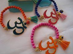 SALE YOGA OHM Chakra Bracelets  Ethnic JewelryBohemian by Nezihe1, $17.00