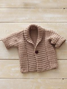 Baby Shawl Collar Knitting Pattern : Crochet-Sweaters on Pinterest Crochet Cardigan Pattern, Crochet Tops and Cr...