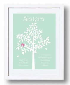 Wedding Gift For Sister Pinterest : SISTERS gift print - Personalized gift for your Sister - Wedding Gift ...