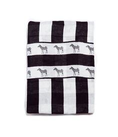 Zara Striped Zebra Print Scarf