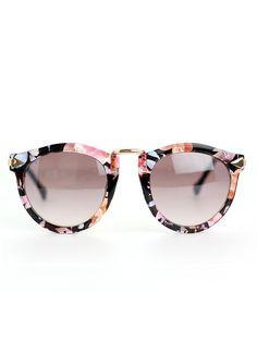 Floral Rim Retro Sunglasses