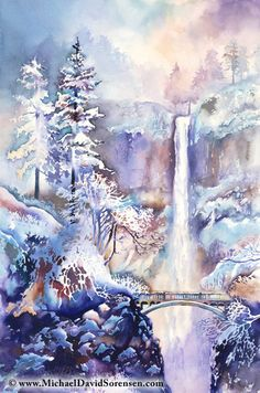 ✿ Winter Frost - watercolor painting by Michael David Sorensen ✿