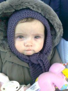 Tuto bonnet-écharpe bébé
