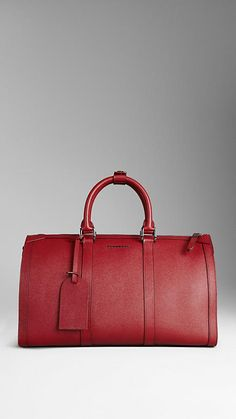 Medium London Calf Leather Holdall weekend bag | Burberry
