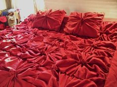 Vintage inspired Ruby Red Duvet Cover by quiltery on Etsy, $215.00