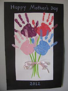 Mother's Day Craft Handprint Bouquet