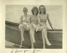 #vintage #beach #1940s #swimsuits #summer
