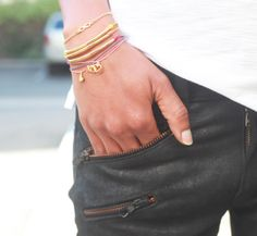 Punch up your palette with bracelets in every shade of spring #dogeared #bracelets