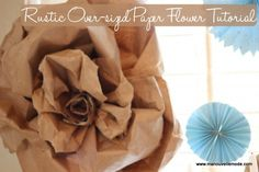 giant paper flower tutorial - awesome from paper bag