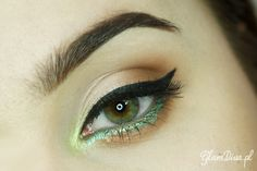 """Spring has Just Come"" by GlamDiva.pl using the Makeup Geek eyeshadow Latte and Mystic gel liner."
