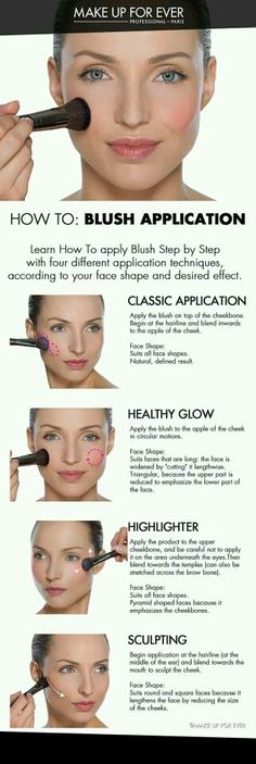How to apply blush;