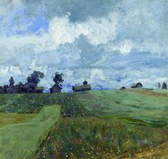 Isaac Levitan (Исаа́к Ильи́ч Левита́н, 1860-1900)   Stormy Day, 1897