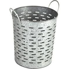 Better Homes and Gardens Galvanized Round Bin, Silver Spray Paint and use for Umbrella Storage at the door