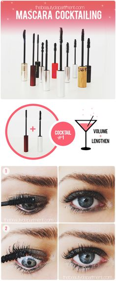 """Mascara Cocktailing - Pick a pair and thank me later! Why are two mascaras better than one? Because each wand is designed to do different things and each formula created for completely different tasks as well. Some add volume, others separate, some lengthen, others create """"tubes"""" around each lash… and when you combine the power of two, the effect is gorgeous. More is more, ladies! Here's how to do it..."""