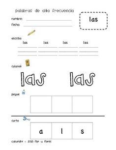 printable  Spanish on Spanish, Teaching kindergarten and Teacher Pinterest Kinder sight  español  word booklets  for