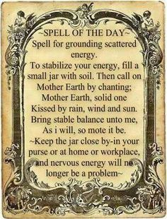 Spell to ground scattered energy