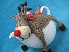 Rudolph tea pot cover