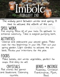 Happy Imbolc! Here C