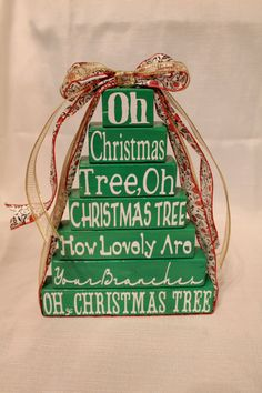 Wooden Oh Christmas Tree