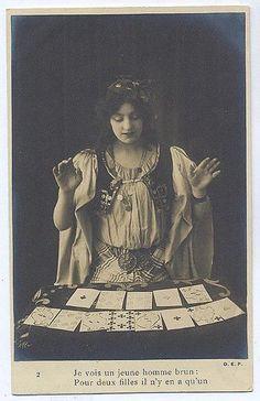 Vintage tarot reader