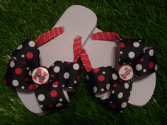 HUSKERS Flip Flops  Child & Adult Sizes FREE by 1YOUniqueboutique, $19.99