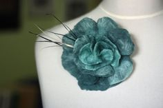 Ice Mint flower women brooch, Ice Mint pin, Ice Mint brooch, felted brooch, flower brooch, flower pin, felted pin, Ice Mint flower