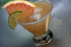 SIMPLE MARGARITA:  2oz Tequila. 1/2 fresh squeezed lime. 1/4 fresh squeezed grapefruit. Served up in a salted rim.