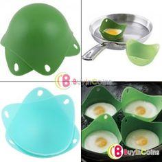2pcs silicona huevo Poacher cocinero Poach Pods Cocina Utensilios de cocina escalfado taza de bicarbonato