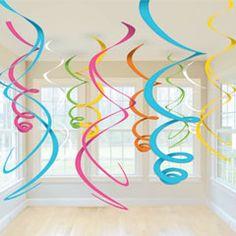 Multi Colored 22'' Swirls  from Windy City Novelties