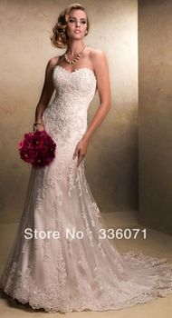 wedding dressses, lace wedding dresses, wedding dress fit and flare, dress sweetheart