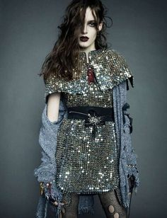 Glamorously Chaotic Editorials - This Numero Editorial Focuses on Feminine Grunge Fashion (GALLERY). I don't mean rhinestones!