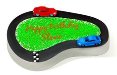 Race Car Party Cake Idea from Birthday in a Box