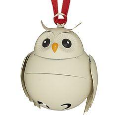 John Lewis Metal Bell Owl Tree Decoration