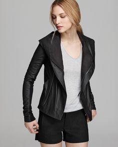 Vince Jacket - Paper Leather Hooded | Bloomingdales