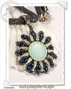 Ewa / colgante de Lana free tut, pendants, pattern, ewa gyöngyö, bead pendant, tutorial, gyöngyö világa, jewelri, bead free