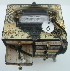 To see a video tutorial on how to make this Matchbox Chest, signup to win my art, download free images, and learn new techniques checkout my blog http://artfullymusing.blogspot.com