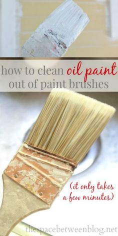 A few simple steps to a clean paint brush after using oil based paint.  I know none of us want to, but sometimes those oil based products are just what works best, and now we don't have to sacrifice our brushes.