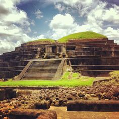The Maya ruins of Tazumal - El Salvador.